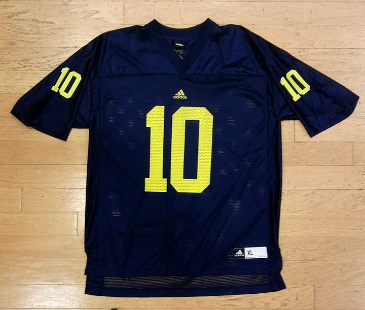 sneakers for cheap f18cc a0a78 University of Michigan Men's Adidas Tom Brady Replica Jersey