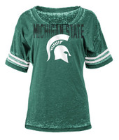 Michigan State University Women's 5th & Ocean Green Burnout T-shirt