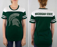 Michigan State University Women's e5 Studded Logo T-shirt
