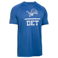 Detroit Lions Men's Under Armour Blue Combine  T-Shirt