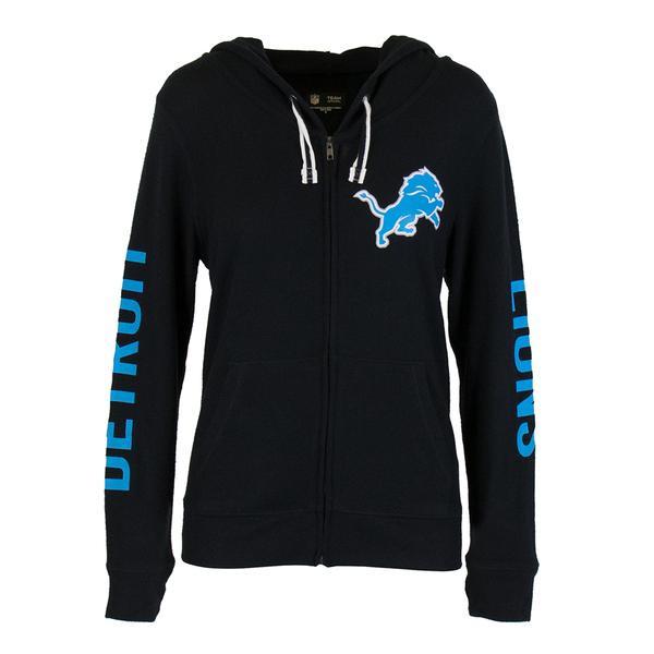 ... Detroit Lions Women s NFL Team Apparel Full Zip Hooded Sweatshirt.  Loading zoom 11eaeb78e