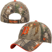 Detroit Tigers Men's 47 Brand Camo Real Tree Frost MVP Adjustable Hat