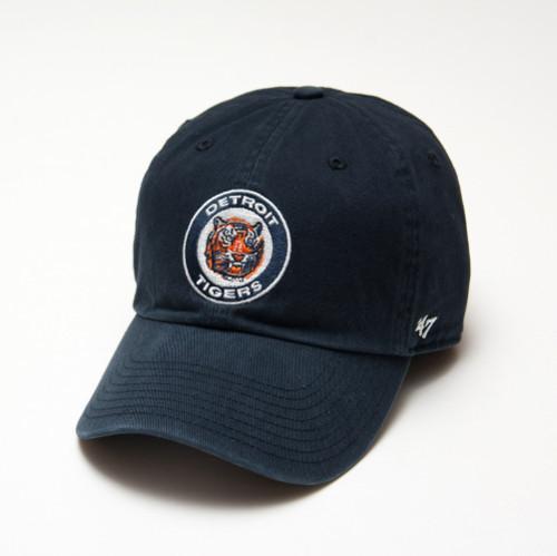 b4c9256c Detroit Tigers Men's 47 Brand Clean Up Navy Round Logo Adjustable ...