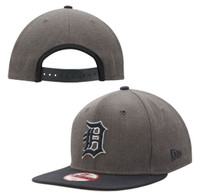 Detroit Tigers Men's New Era Graphite/Navy Original Fit 9FIFTY Snapback Adjustable Hat