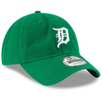 Detroit Tigers Men's New Era Green St. Patrick's Day Core Classic 9TWENTY Adjustable Hat