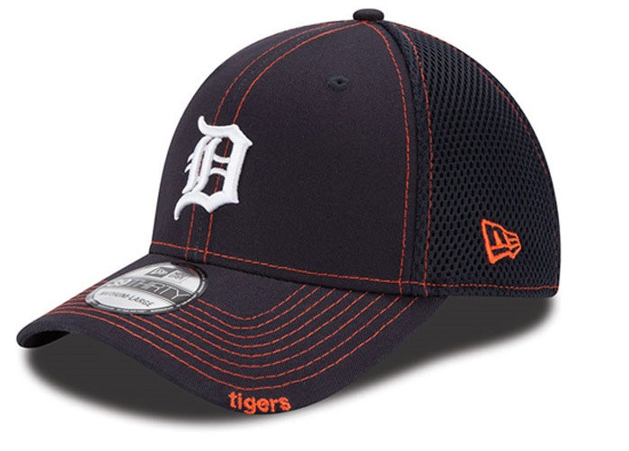 Detroit Tigers Men s New Era Navy Blue Neo 39THIRTY Stretch Fit Hat ... 5af956fb3