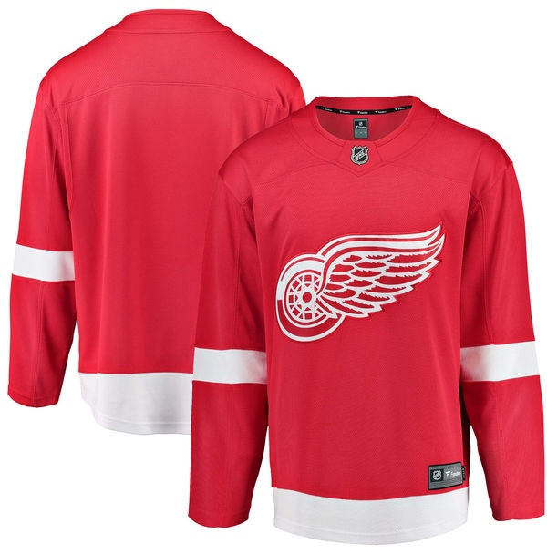 best website bc144 e3d78 Detroit Red Wings Men's Fanatics Replica Home Jersey - Red