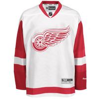 Detroit Red Wings Men's Reebok Replica Road Jersey - White