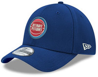 Detroit Pistons Men's New Era 39THIRTY Team Classic Stretch Fit Hat