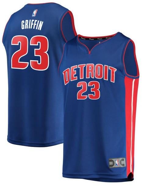 new style 27d9d 41151 Detroit Pistons Men's Fanatics Blake Griffin Road Jersey - Blue