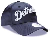 Detroit Tigers Women's New Era  Navy 9Forty Satin Team Charmer Adjustable Hat
