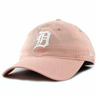 Detroit Tigers Women's New Era 9TWENTY Pink Preferred Pick Adjustable Hat
