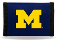 University of Michigan Rico Industries Trifold Nylon Wallet