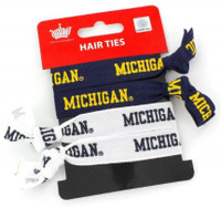 University of Michigan Aminco Elastic Hair Ties 4-PACK