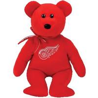 Detroit Red Wings Ty Beanie Baby Bear Plush
