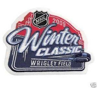 2009 NHL Winter Classic Game Logo National Emblem Patch (Chicago Blackhawks vs. Detroit Red Wings)