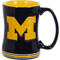University of Michigan Boelter Brands Sculpted Coffee Mug - Blue (14 oz)