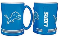 Detroit Lions Boelter Brands Sculpted Coffee Mug - Blue (14 oz)
