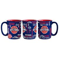 Detroit Pistons Boelter Brands Sculpted Spirit Coffee Mug - Blue (17 oz)