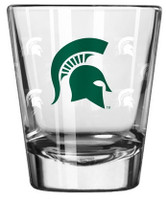 Michigan State University Boelter Brands Satin Etch Shot Glass