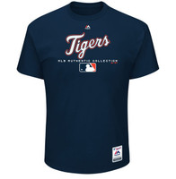 Detroit Tigers Men's Majestic Navy Authentic Collection Team Drive T-Shirt
