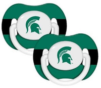 Michigan State University Infant 2 Piece Orthodontic Pacifier Set
