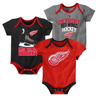 Detroit Red Wings Outerstuff Kid's 3 Piece Creeper Set