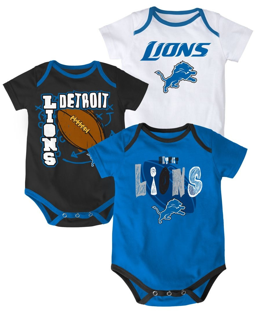 f337464d Detroit Lions Outerstuff Kid's 3 Piece Bodysuit Set