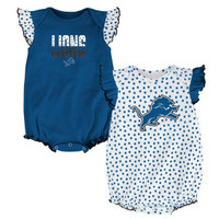 Detroit Lions Outerstuff Polka Dot 2 Piece Onesie Set