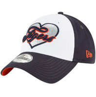 Detroit Tigers Girls Child/Youth New Era Navy Sparkly Fan 9TWENTY Adjustable Hat