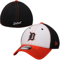 Detroit Tigers Child-Youth New Era White Front Neo 39THIRTY Flex Hat