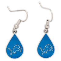 Detroit Lions Wincraft Tear Drop Dangle Earrings