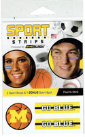 University of Michigan Eyeblack Basketball Eye Strips
