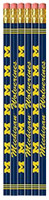 University of Michigan Westrick Paper 6 Pack Pencil Set