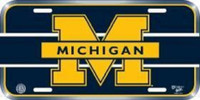 University of Michigan Wincraft Plastic License Plate