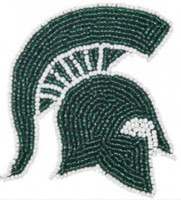 Michigan State University Aminco Grace Collection Bead Hair Clip