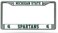 Michigan State University Rico Industries Chrome Auto License Plate Frame