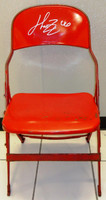 Henrik Zetterberg Autographed Joe Louis Arena Original Metal Folding Chair