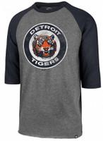 Detroit Tigers Men's 47 Brand Slate Gray Imprint Club Raglan