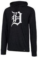 Detroit Tigers Men's 47 Brand Imprint Splitter Hooded Long Sleeve Tshirt