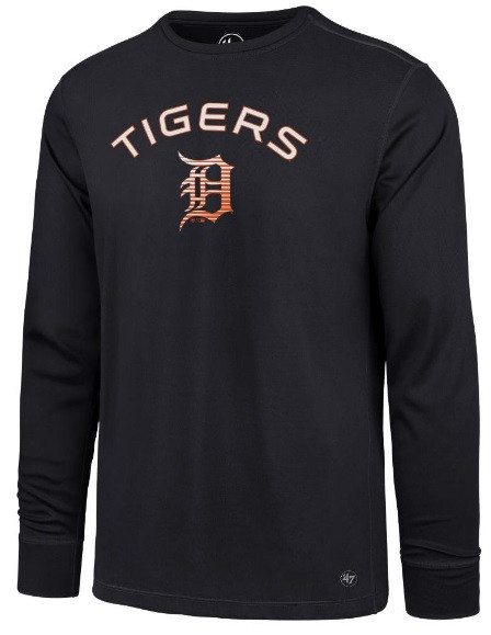 Detroit Tigers Men s 47 Brand Forward Microlite Long Sleeve Tshirt ... 0a8b91d4d