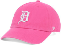 Detroit Tigers Women's 47 Brand Clean Up Pink Adjustable Hat