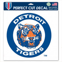 "Detroit Tigers WinCraft Circle Logo Perfect Cut Decal 3.25"" x 3.25"""