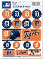 "Detroit Tigers Wincraft 5""x 7"" Vinyl Sticker Sheet"