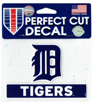 "Detroit Tigers WinCraft Logo & Script Perfect Cut Decal 3"" x 4.5"""