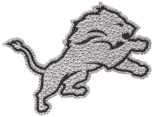 Detroit Lions Team Promark Bling Emblem Car Decal