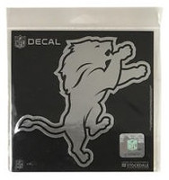 "Detroit Lions Rico 5.5""x4.5"" Chrome Window Graphic"