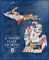 "Detroit Tigers That's My Ticket ""A Tigers State Of Mind"" Wooden Sign"