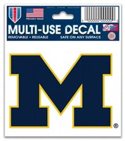 "University of Michigan Wincraft 3""x4"" Static Window Cling"