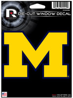 "University of Michigan Rico 4""x5"" Die-Cut Window Decal"